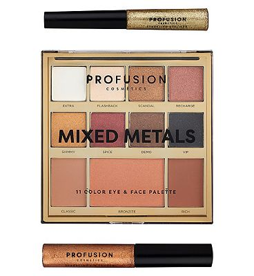Profusion Mixed Metals Eye & Face Palette Gold Chrome