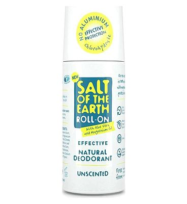 Salt of the Earth Unscented Natural Deodorant Roll-on 75ml