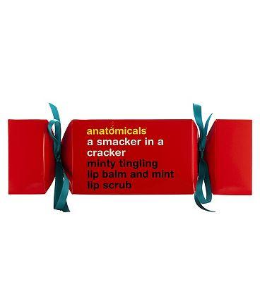 Anatomicals A Smacker In A Cracker Minty Tingling Lip Balm And Mint Lip Scrub Set