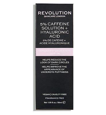 Revolution Skincare 5% Caffeine Solution + Hyaluronic Acid Targeted Under Eye Serum 30ml