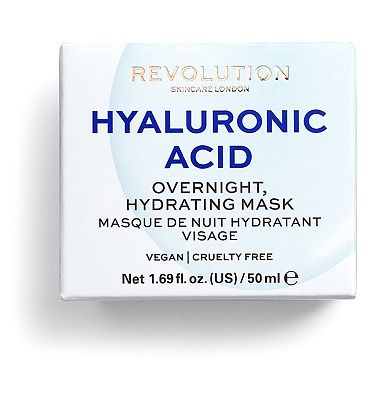 Revolution Skincare Hyaluronic Acid Overnight Hydrating Face Mask 50g