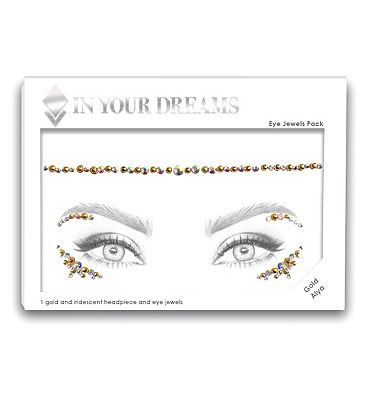 In Your Dreams Gold Alya Face Gem Headpiece