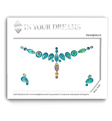 In Your Dreams Blue Ariel Face Gem Headpiece