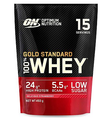 Optimum Nutrition Gold Standard 100% Whey Delicious Strawberry Flavour - 450g
