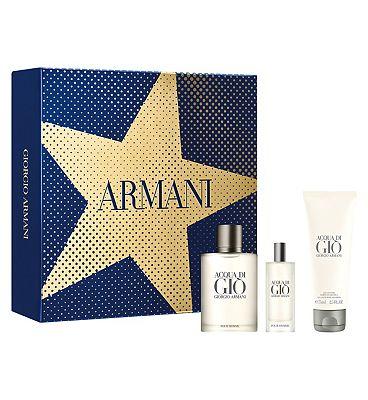 Armani Acqua Di Gi 50ml Eau De Toilette Mens Aftershave Gift Set