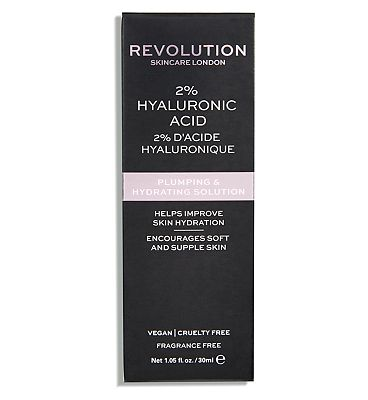 Revolution Skincare 2% Hyaluronic Acid Plumping & Hydrating Solution 30ml