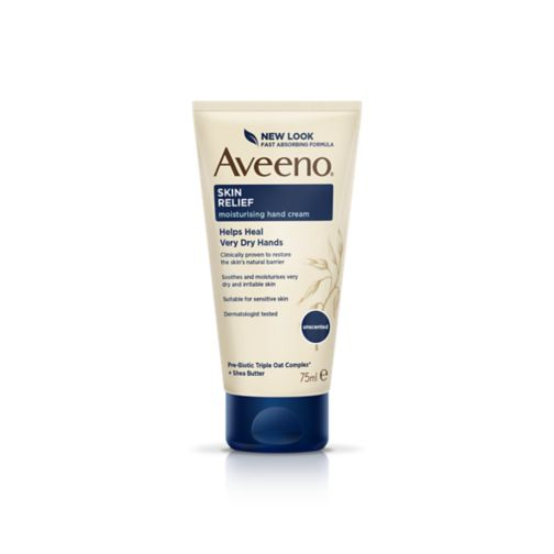 Aveeno Skin Relief Moisturizing Hand Cream With Colloidal Oatmeal, Unscented Moisturizer for Extra Dry, Itchy or Sensitive Skin, Fragrance Free, 97mL
