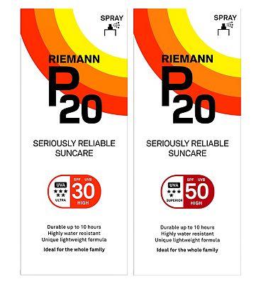 Riemann P20 Family Protection Bundle SPF30 200ml & SPF50 200ml