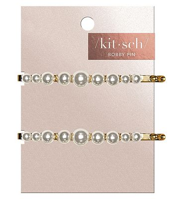 Kitsch Pearl Bobby Pins 2 Pc Set