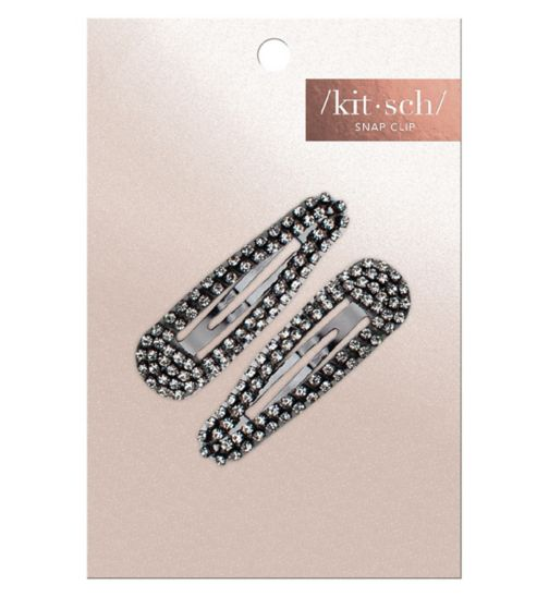 Kitsch Rhinestone Snap Clips Rose Gold 2 Pc Set
