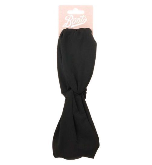 Boots Knot Headwrap Black