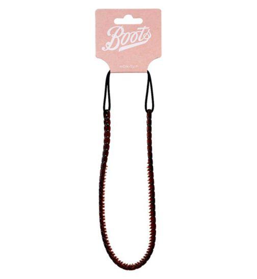 Boots Tortoiseshell Chain Headwrap Non-Slip Grip