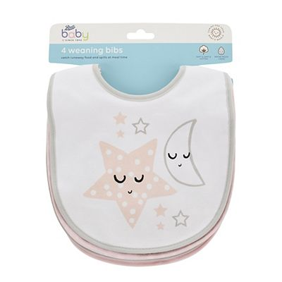 Image of Boots Baby 4 Weaning Bibs - Pink