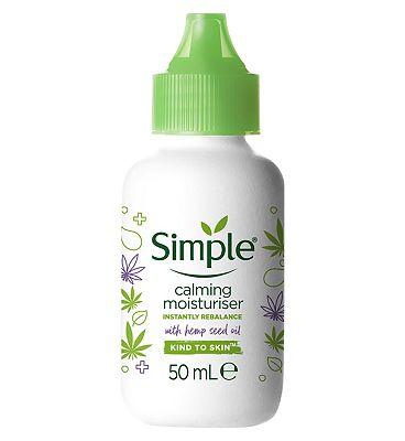 Simple Hemp Calming Facial Moisturiser 50ml