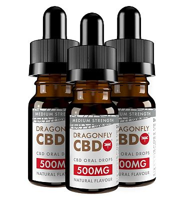 Dragonfly CBD Cannabidiol Oil 500mg 5.6% 10ml x 3 Bundle