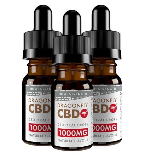 Dragonfly CBD Cannabidiol Oil 1000mg 11.1% - 10ml;Dragonfly CBD Cannabidiol Oil 1000mg 11.1% - 10ml;Dragonfly CBD Cannabidiol Oil 1000mg 11.1% 10ml x 3 bundle