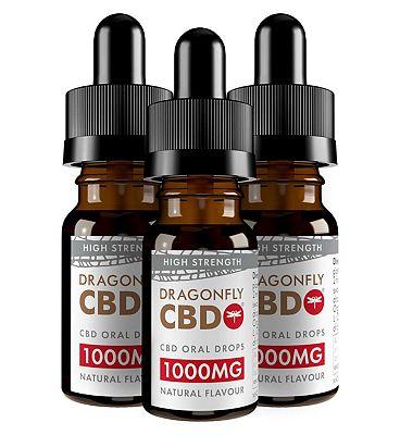 Dragonfly CBD Cannabidiol Oil 1000mg 11.1% 10ml x 3 bundle