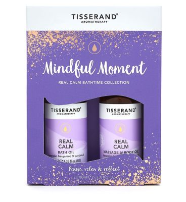 10272240_IS: Tisserand Aromatherapy Mindful Moment Real Calm Bathtime Collection
