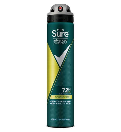 Sure Men Advanced Protection Extreme Fresh Anti-Perspirant Deodorant Aerosol 200ml