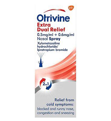 Otrivine Extra Dual Relief Nasal Spray 10ml