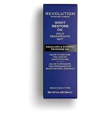 Revolution Skincare Night Restore Oil - Squaline & Evening Primrose Oil