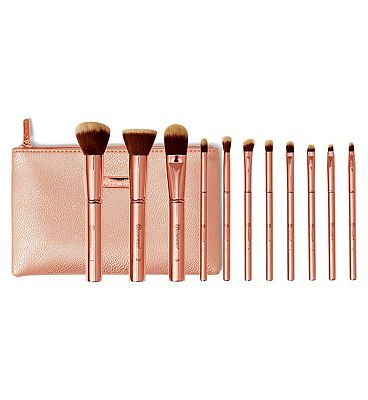 BH Cosmetics Metal Rose - 11 Piece Brush Set With Cosmetic Bag
