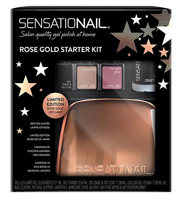 Sensationail All Stars Rose Gold Gel Polish Starter Kit