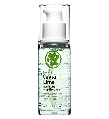 TOO COOL FOR SCHOOL CAVIAR LIME Hydra Vita Drop Essence Gel 40ml (100% Cruetly free & vegan incl packaging)