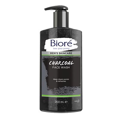 Bior Men's Charcoal Face Wash 200ml For Normal To Oily Skin