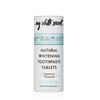 My White Secret Natural Whitening Toothpase Tablets Peppermint Flavoured 45g