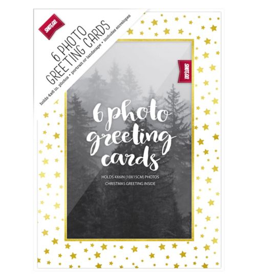 Shot2go greeting card white gold star 6s