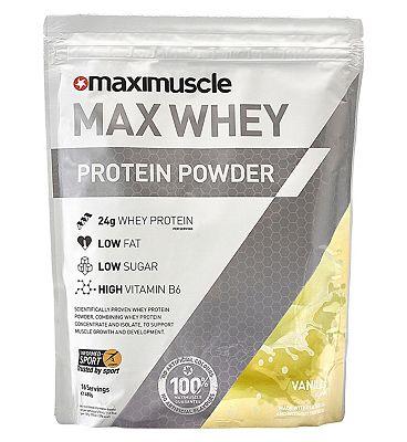 Maximuscle Max Whey Protein Powder Vanilla Flavour - 480g