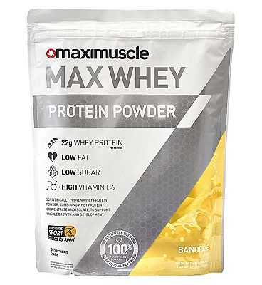 Maximuscle: Max Whey Protein Powder Banoffee Flavour 480g