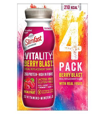 SlimFast Advanced Vitality Berry Blast Meal Replacement Shake - 4 pack