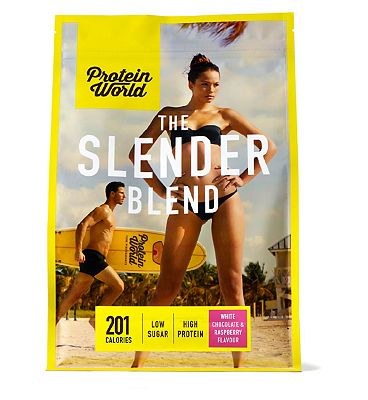 Protein World Slender Blend White Chocolate & Raspberry - 600g