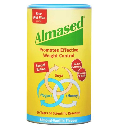 Almased Soya, Yogurt and Honey Meal Replacment Almond Vanilla Flavour - 500g