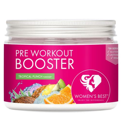 Womens Best Pre Workout Booster Tropical Punch Powder - 300g