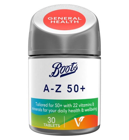 Boots A-Z 50+ 30 Tablets