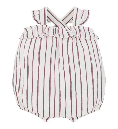 mini club all dressed up stripe romper