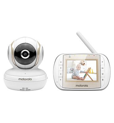 Motorola MBP30A 3inch Video Baby Monitor with Remote Pan Scan