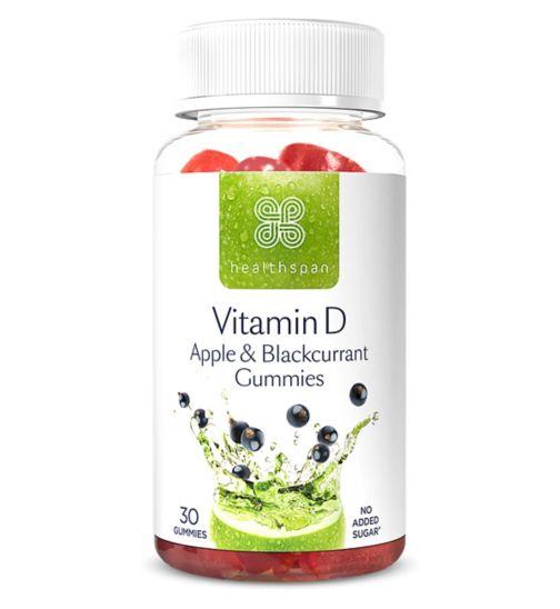 Healthspan Vitamin D Apple & Blackcurrant 30 Gummies