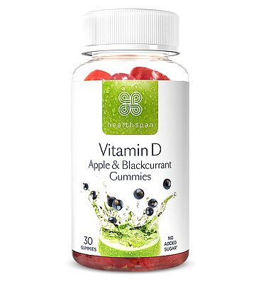Healthspan Vitamin D Apple & Blackcurrant 30 Gummies
