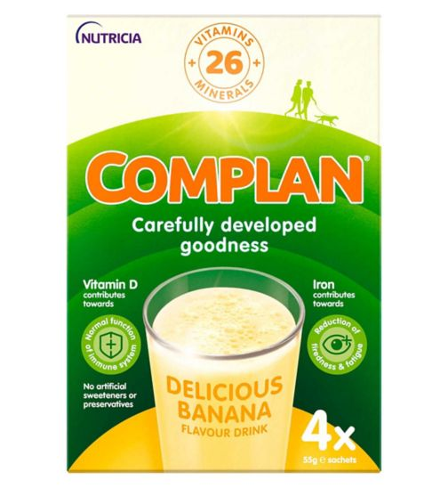Complan Banana Nutritional Drink Sachet 4x55g