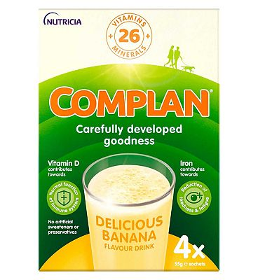 Complan Banana Flavour Nutritional Drink - 4 x 55g