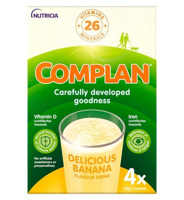 10273692_IS: Complan Banana Flavour Nutritional Drink - 4 x 55g