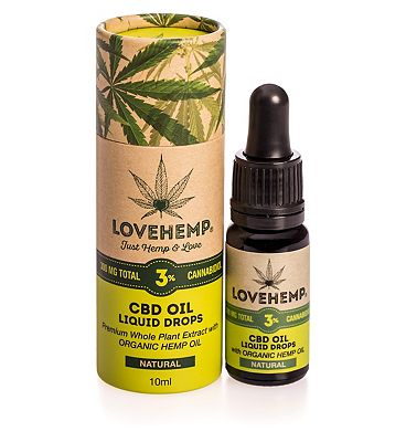 Love Hemp 300mg total 3% CBD Oil Liquid Drops - 10ml