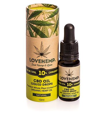 Love Hemp 1000mg total 10% CBD Oil Liquid Drops 10ml