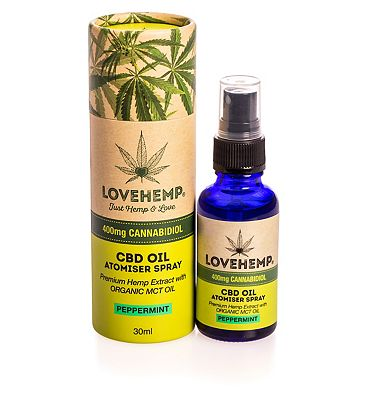 Love Hemp 400mg Cannabidiol CBD Oil Atomiser Spray Peppermint 30ml