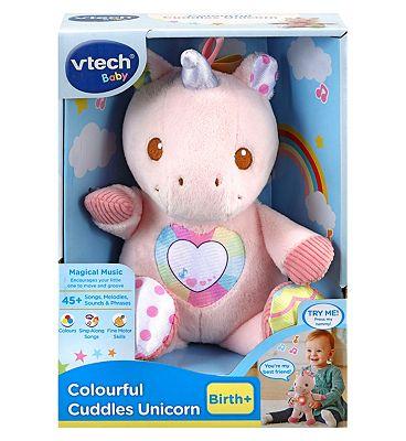 Vtech Colourful Cuddles Light-Up Unicorn Toy