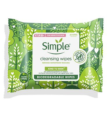 Simple Biodegradable Face Wipes 20s